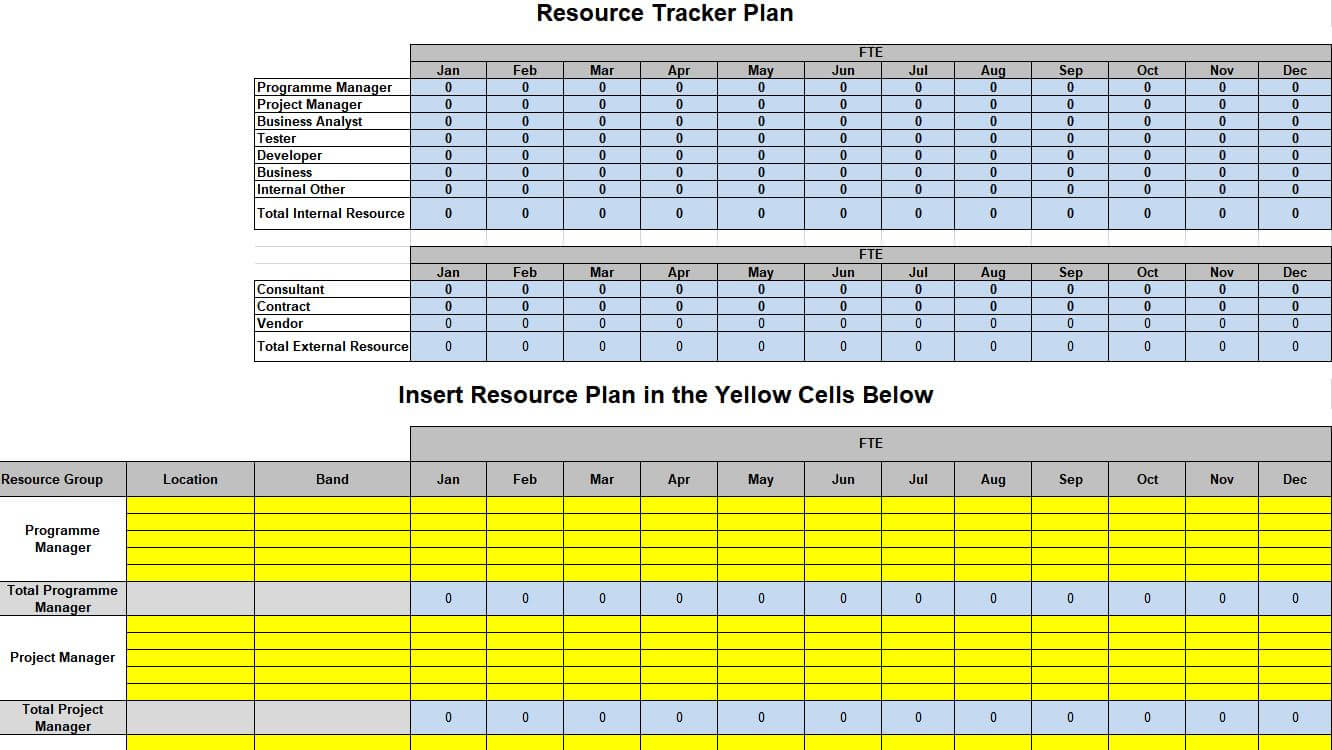 Example of demand planning template