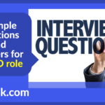 Example questions and answers for a PMO role