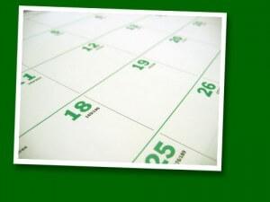 Project Reporting Calendar