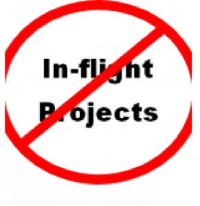 Stop in-flight projects sign