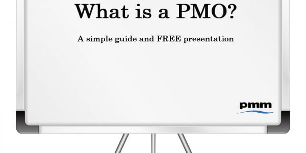 Whiteboard asking what is a PMO?