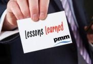 Conducting PMO lessons learned review