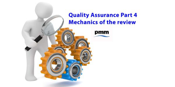 Review of mechanics of project assurance review