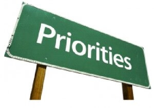 sign showing prioritise