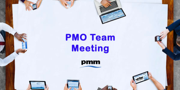 Team holding a PMO meeting