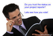 PMO reviewing project status reports