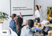 Team preparingto run project planning workshop