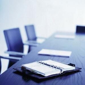 PMO meeting agenda on table