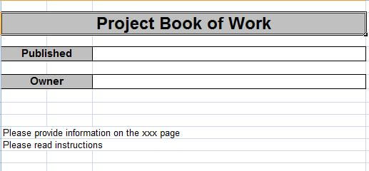 Project Book Of Work Template Download  Pm Majik