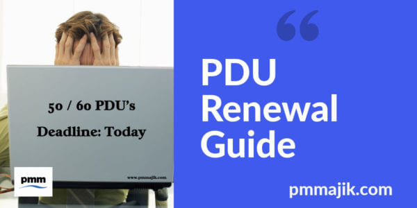 Project manager renewing PDU's