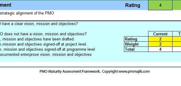 PMO Maturity Data Capture Template