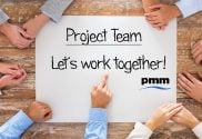 Project team working together