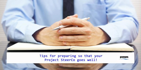 Business man planning project SteerCo