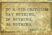 How to avoid criticism quote