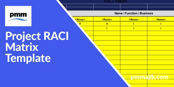 Project RACI Matrix template header