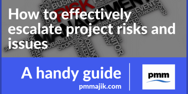 How to effectively escalate project risks and issues