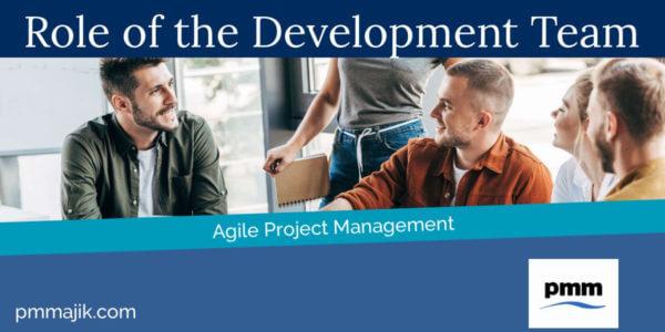 Agile project development team meeting
