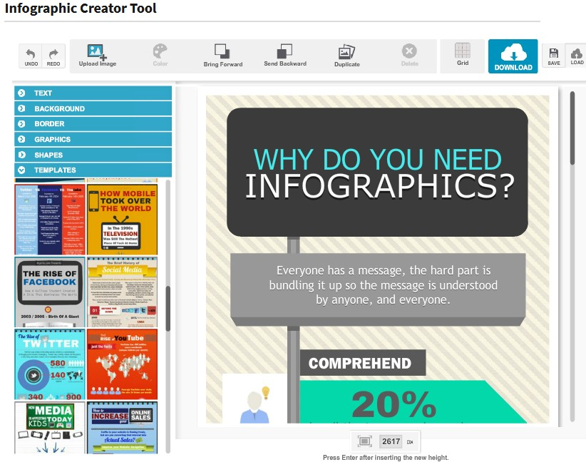 Inforgraphic Creator Tool for projects and PMO