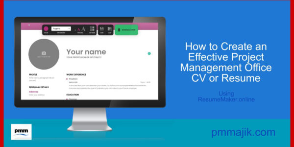 How to create a PMO resume using resumemaker.online